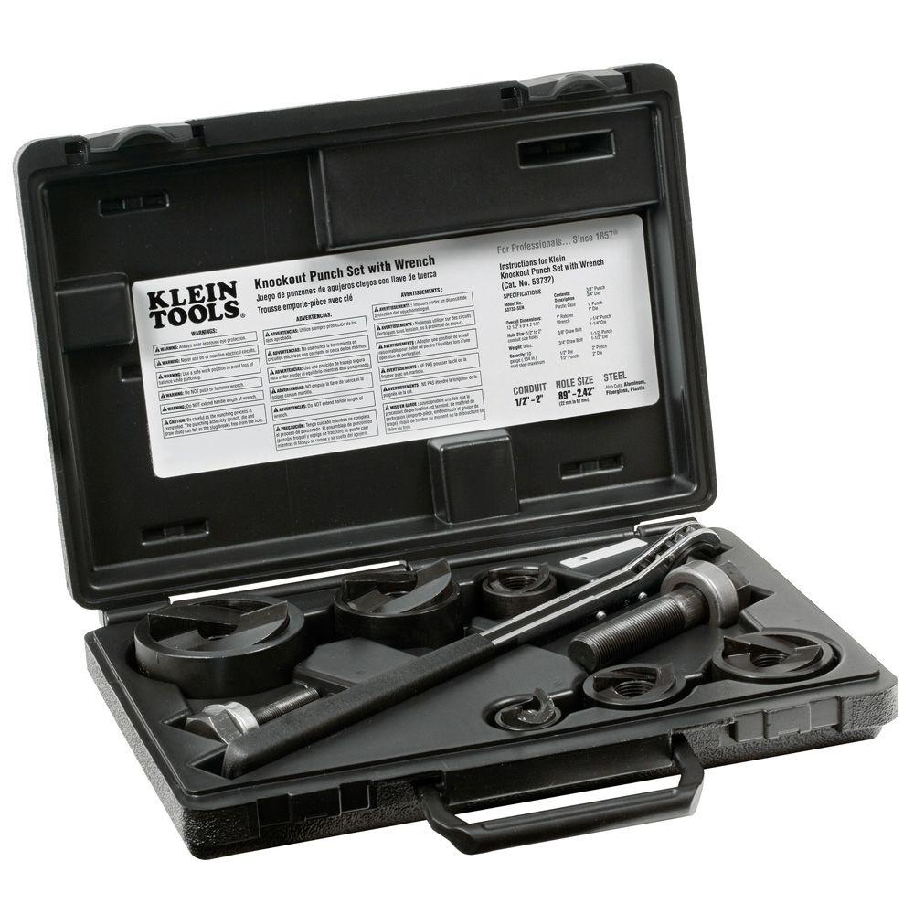 Klein Tools Knockout Punch with Wrench 9-Piece Set