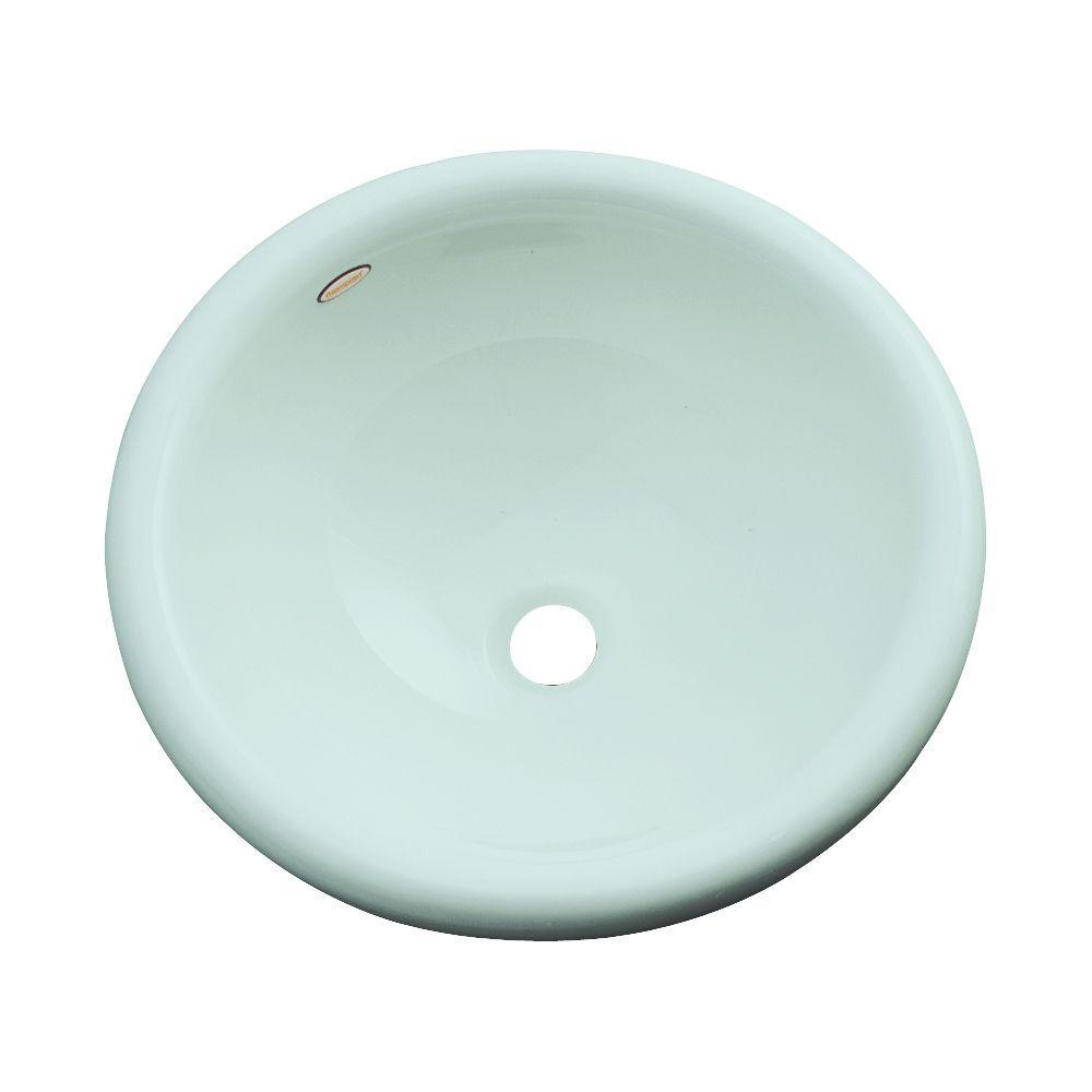 null Eudora Drop-In Bathroom Sink in Seafoam