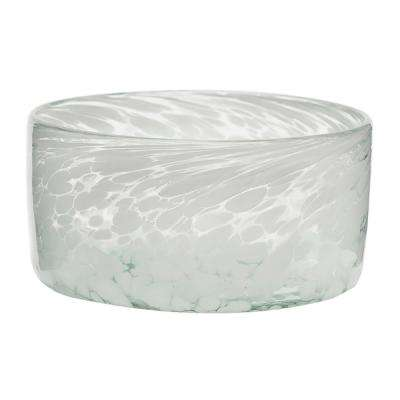 Blanco 80 oz. Glass Dog Bowl in White