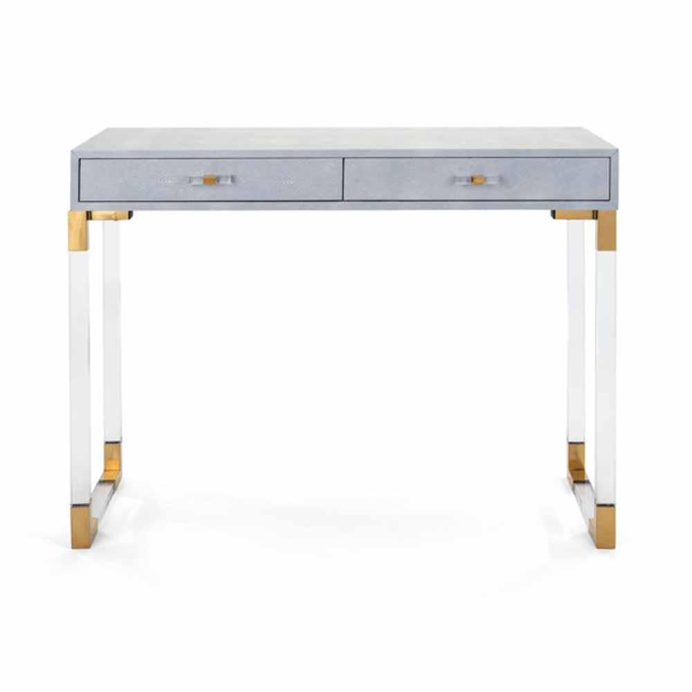 MisTrisha Blue Yearwood Shagreen and Acrylic Console Table