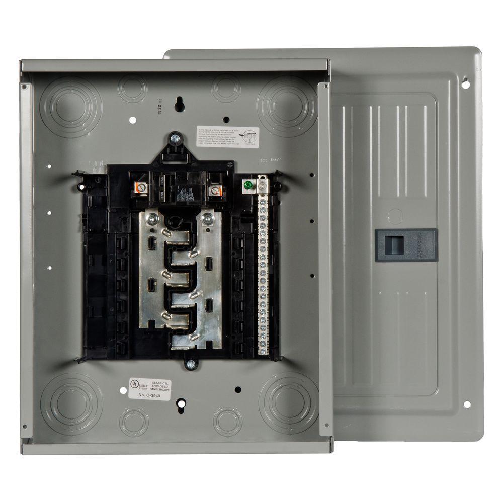 Siemens es series 100 amp 12 space 24 circuit main breaker for Best circuit breaker panel