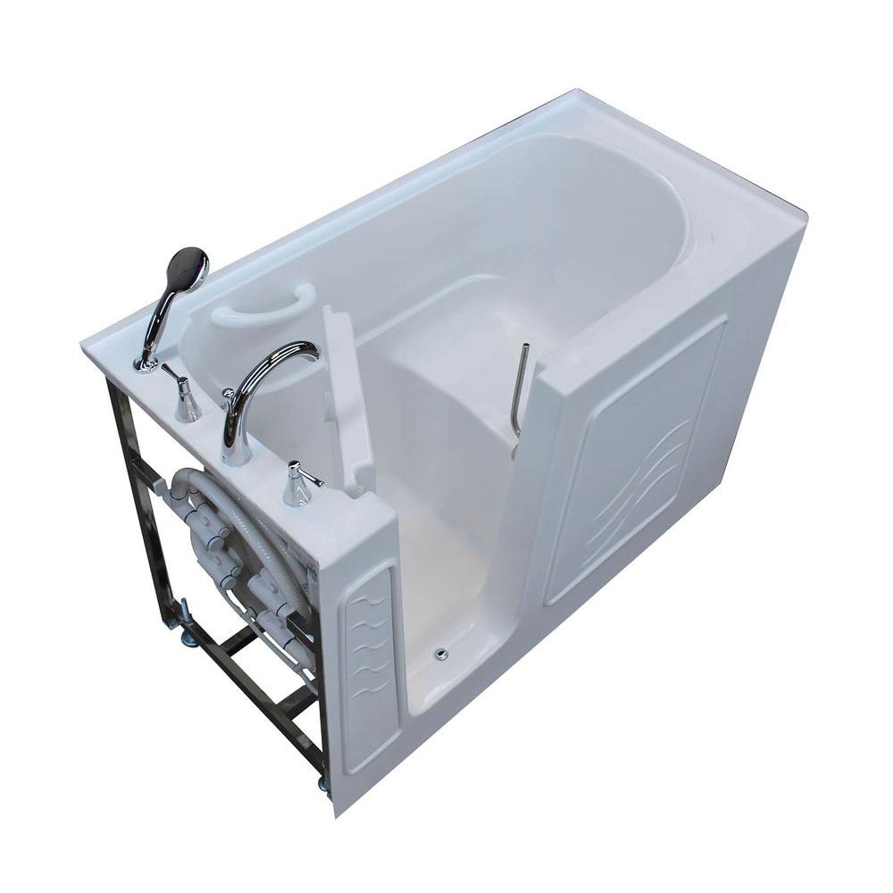 Universal Tubs HD Series 30 in. x 60 in. Left Drain Quick Fill Walk ...
