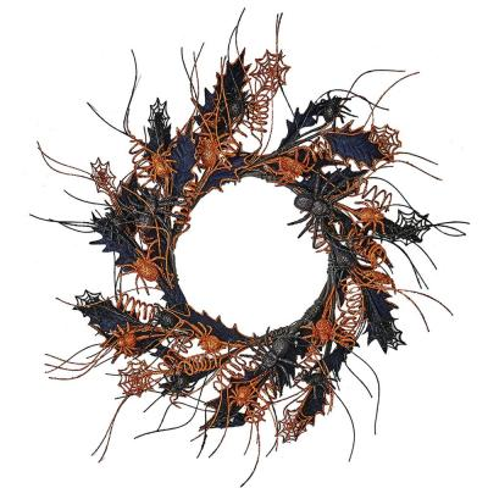 22 in. Halloween Spider Wreath