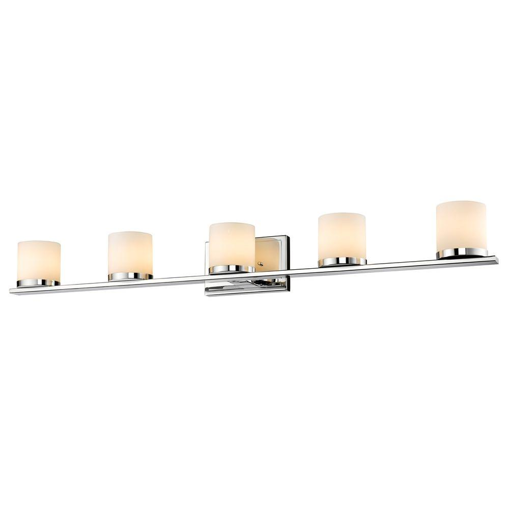 Kariya 5-Light Chrome Bath Vanity Light