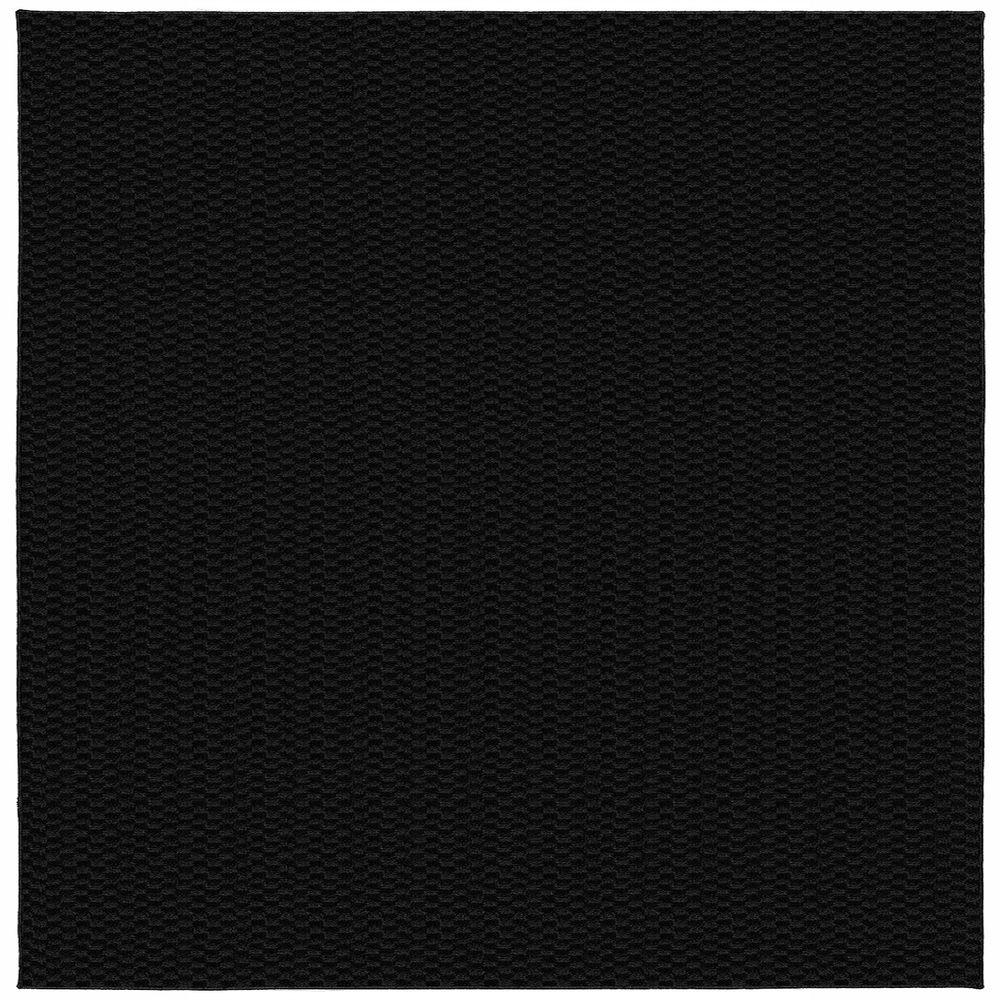 garland rug medallion black 12 ft x 12 ft square area rug ma 00 0n 1212 15 the home depot. Black Bedroom Furniture Sets. Home Design Ideas