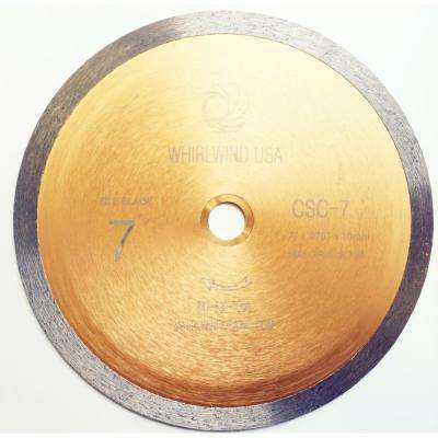 7 in. Continuous Rim Diamond Saw Blade for Tile Wet Cutting