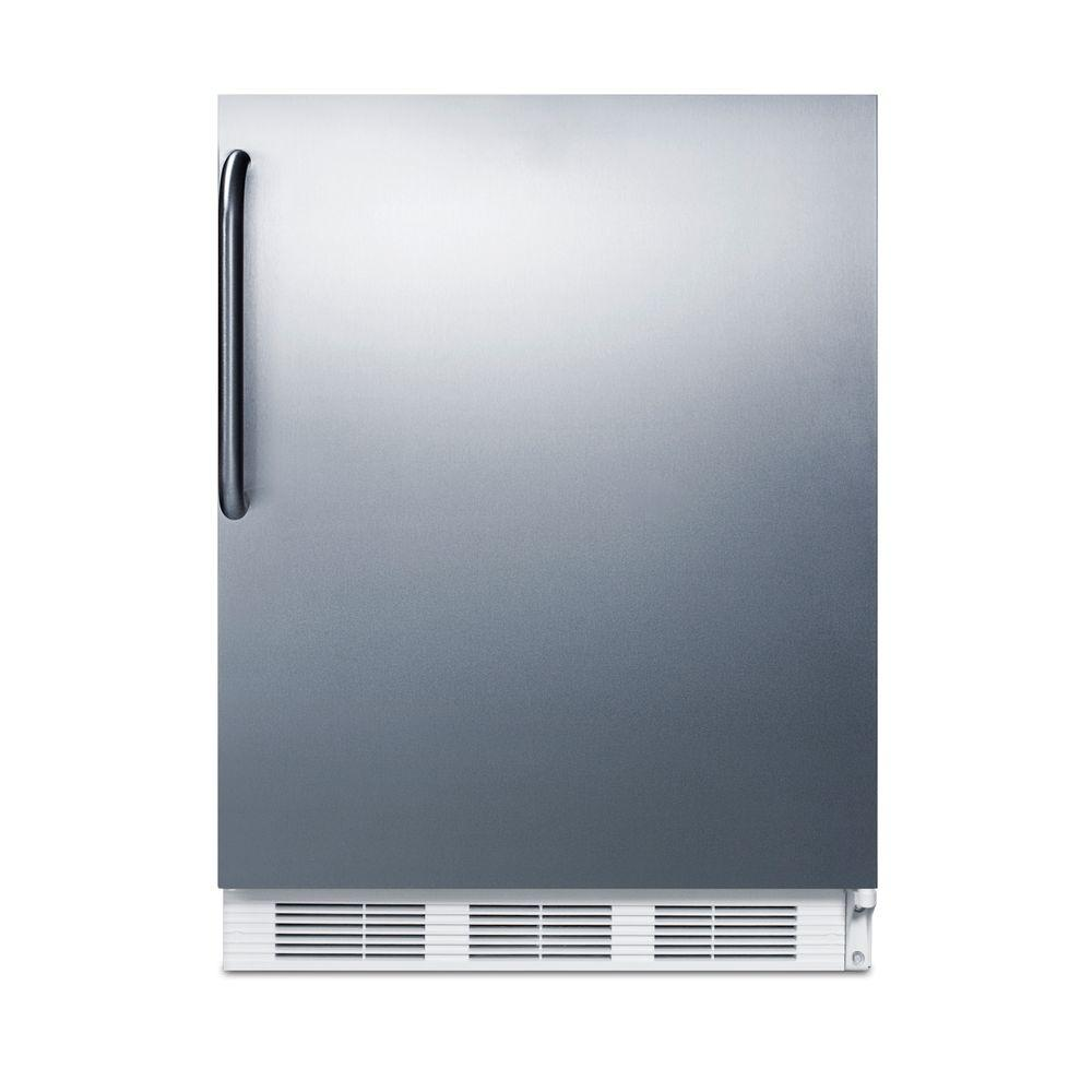 Mini Refrigerator In Stainless Steel