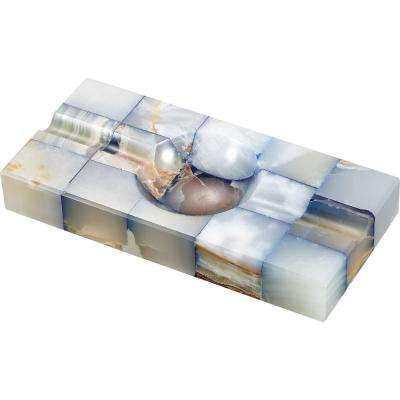 Azure Onyx Fusion Cigar Ashtray with 2-Cigar Rests