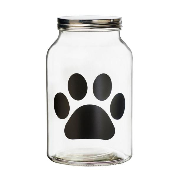 Amici Home Buddy Paw 140 oz. Glass Chalkboard Treats Canister 7CA114R