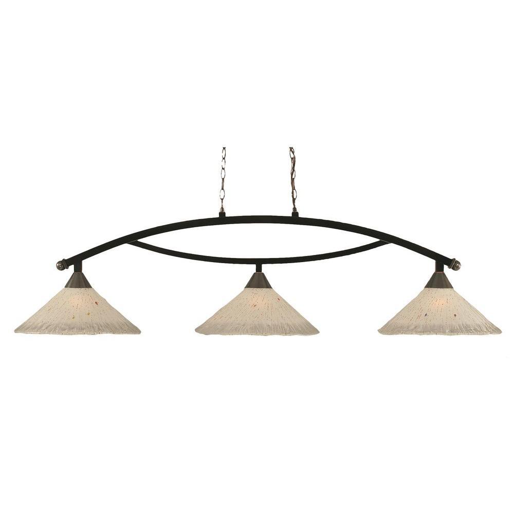 Filament Design Concord 3 Light Ceiling Black Copper Incandescent Island Pendant-DISCONTINUED