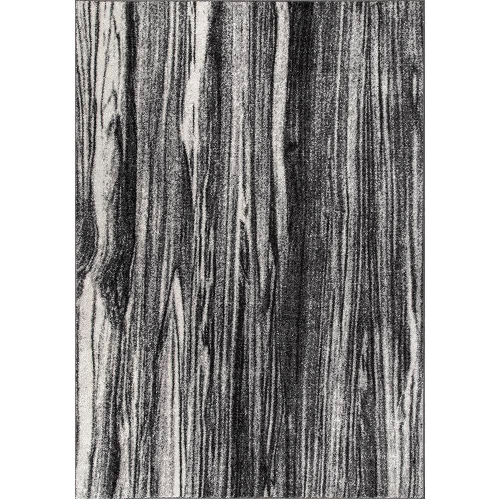 Nuloom Grain Abstract Black White 5 X 8 Area Rug