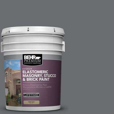 5 gal. #770F-5 Dark Ash Elastomeric Masonry, Stucco and Brick Paint