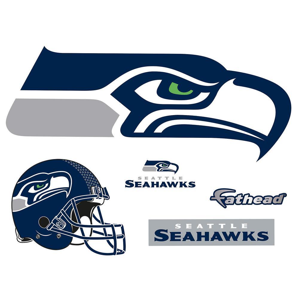 25 in. H x 58 in. W Seattle Seahawks Logo Wall