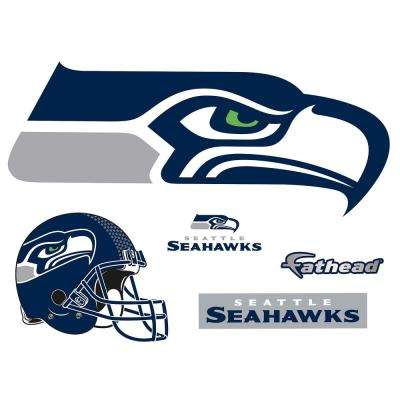 25 in. H x 58 in. W Seattle Seahawks Logo Wall Mural