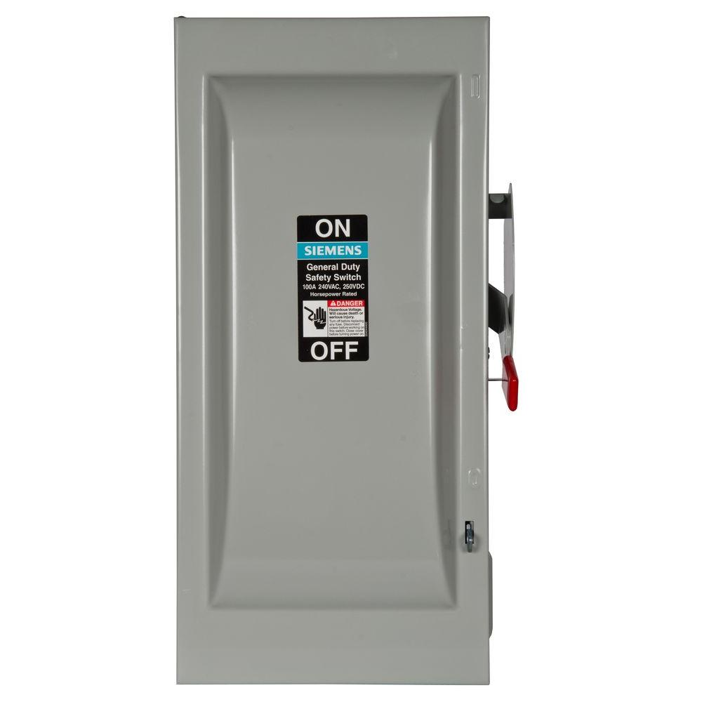 General Duty 100 Amp Triple Pole 240-Volt Outdoor Fusible Safety Switch