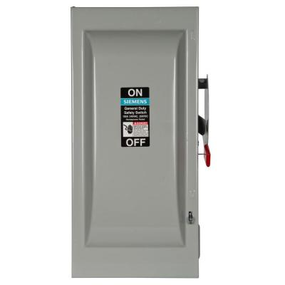 100 Amp Disconnect >> Square D 100 Amp 240 Volt 3 Pole 3 Phase Non Fusible Outdoor General
