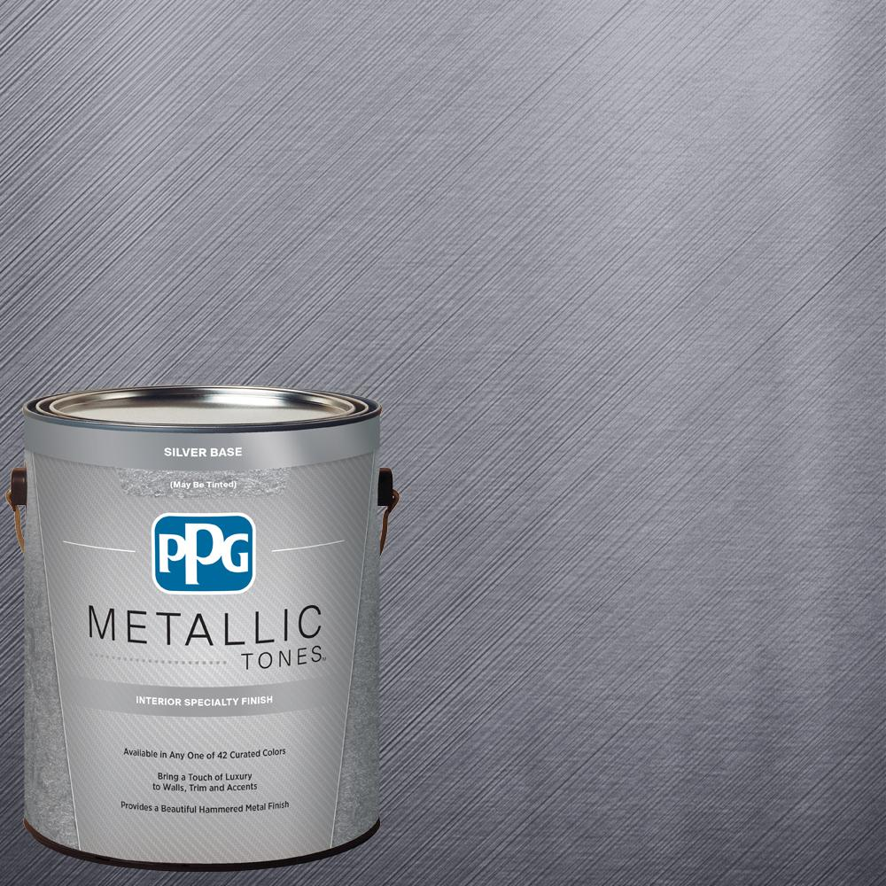 PPG METALLIC TONES 1 Gal. MTL101 Foundry Metallic Interior Specialty Finish  Paint