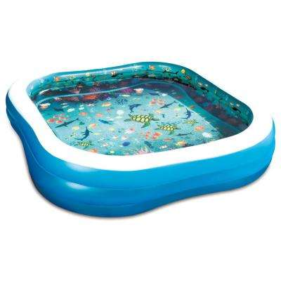 3D Family 90 in. x 90 in. x 22 in. D Inflatable Square Above Ground Pool