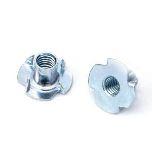 #8-32 x 1//4 Coarse Thread Tee Nut 3 Prong Low Carbon Steel Zinc Plated Pk 100