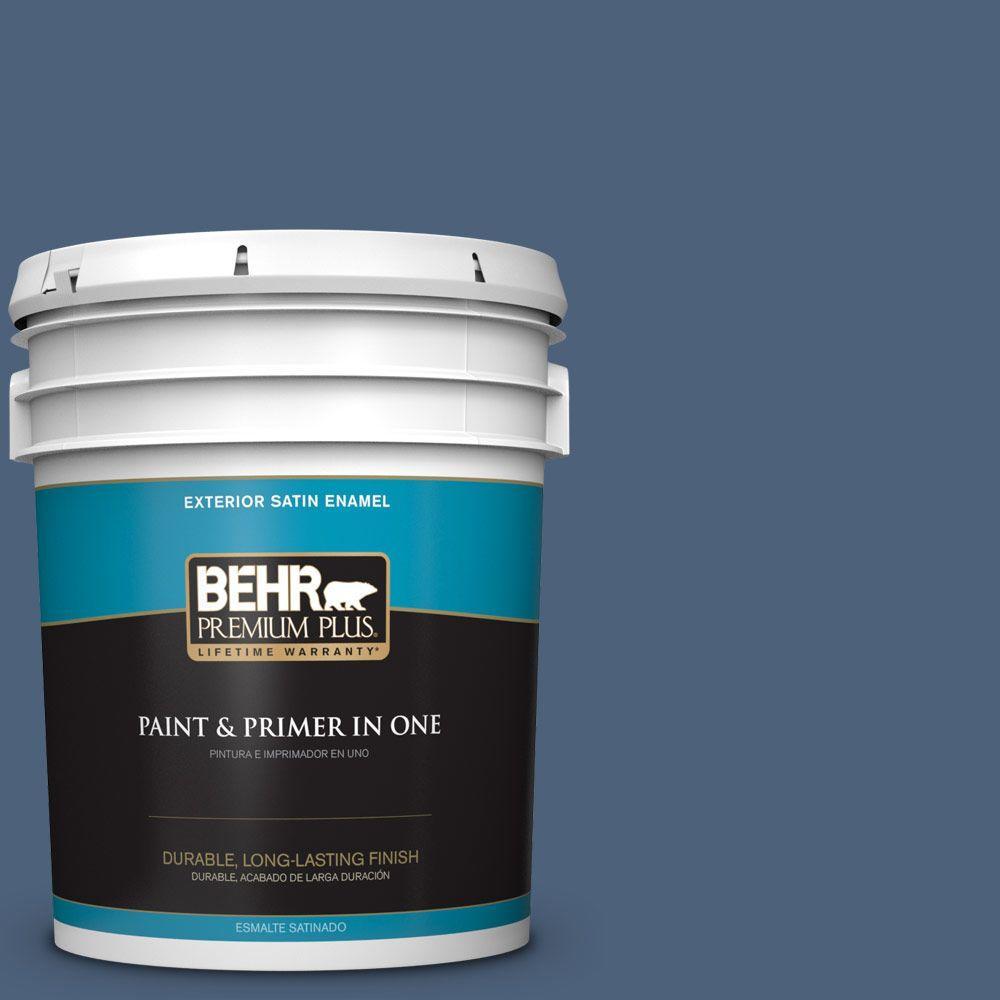 BEHR Premium Plus 5-gal. #590F-6 Mesmerize Satin Enamel Exterior Paint