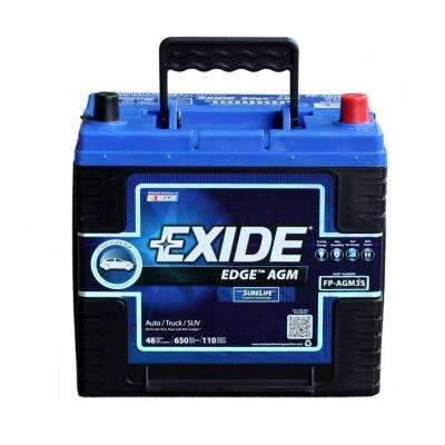 Edge 12 volts Lead Acid 6-Cell 35 Group Size 650 Cold Cranking Amps (BCI) Auto AGM Battery