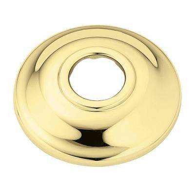 Shower Arm Flange in Polished Brass