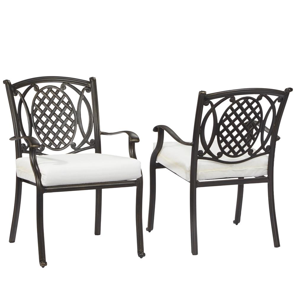 Hampton Bay Belcourt Custom Metal Outdoor Dining Chair (2...