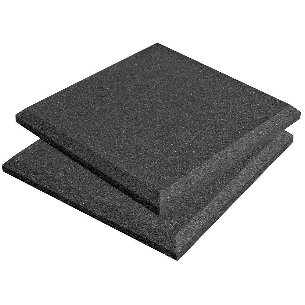 Auralex SonoFlat Panels - 1 ft  W x 1 ft  L x 2 in  H - Charcoal (14-Box)