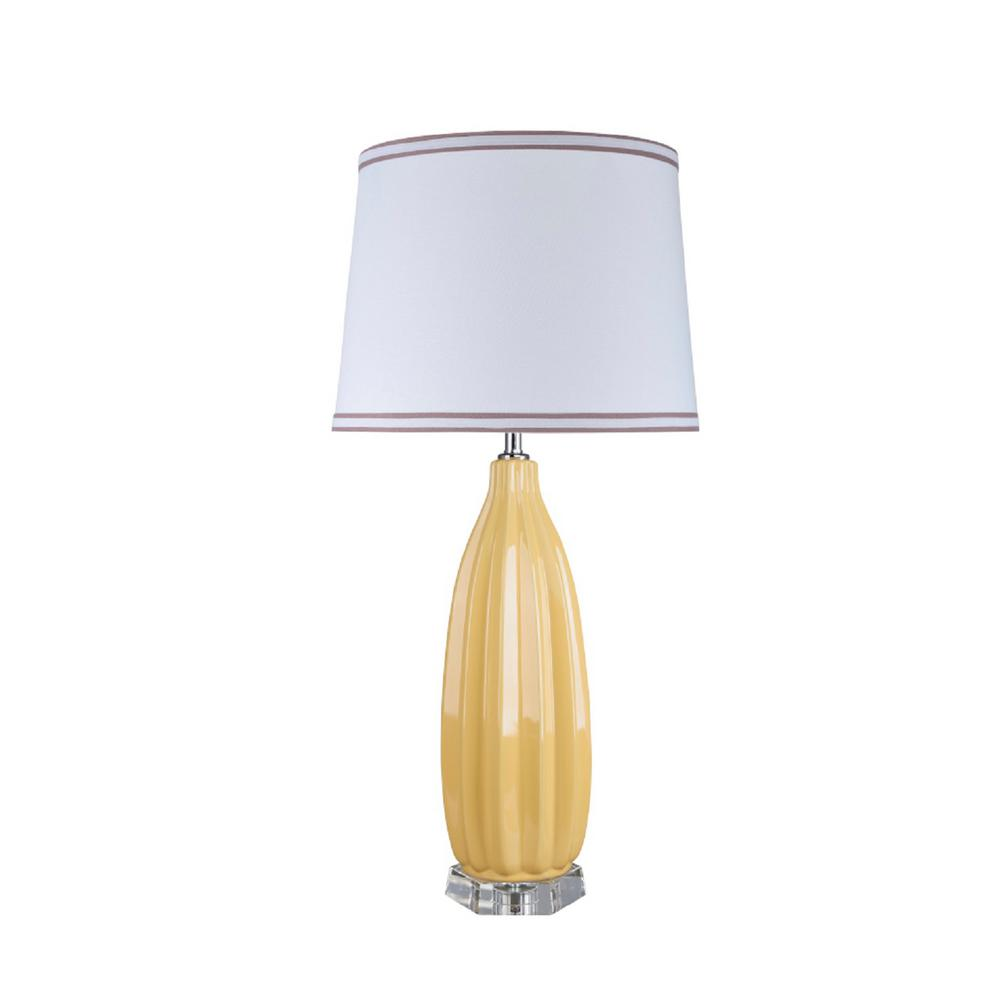 Aspen Creative Corporation 32 1 2 In Daffodil Yellow Ceramic Table