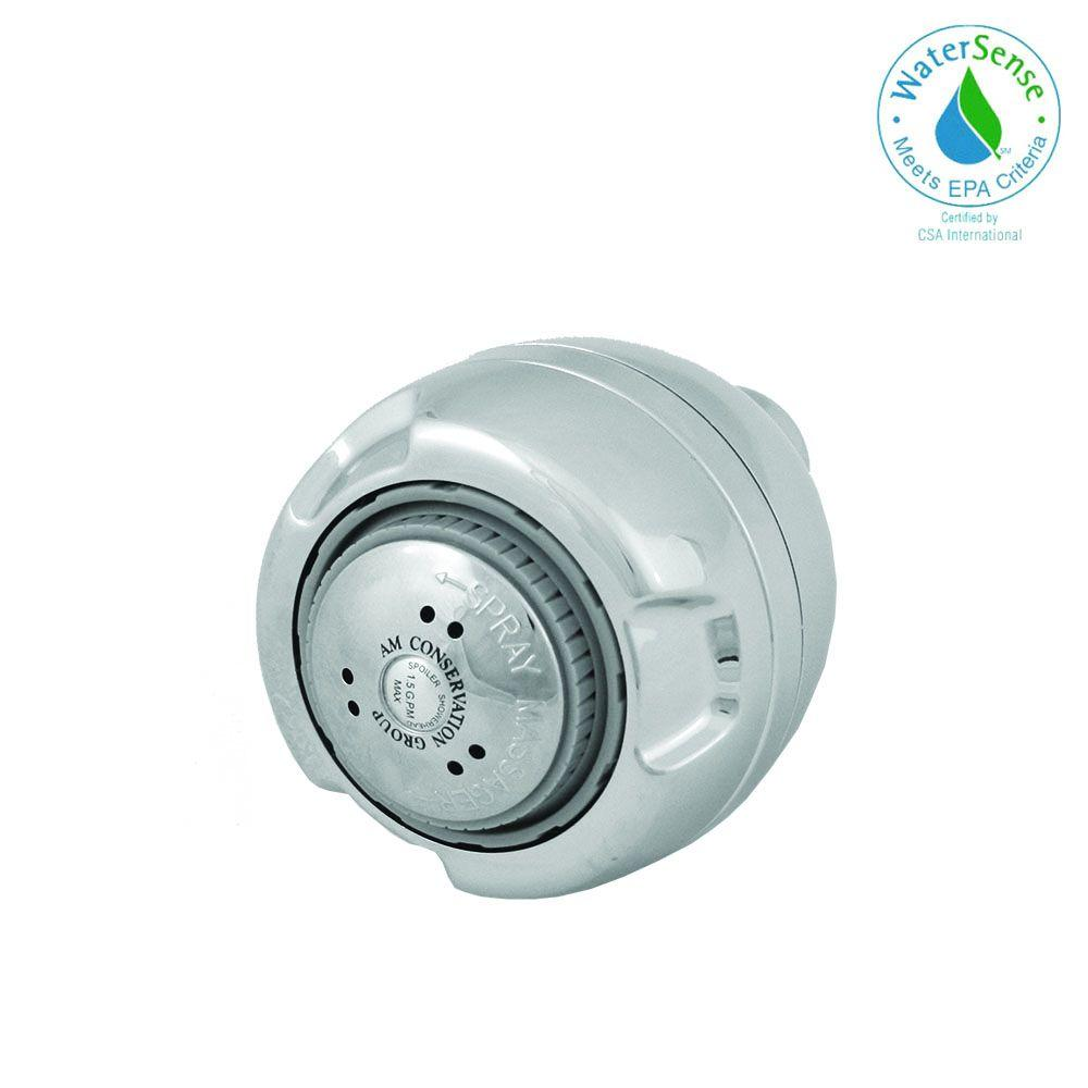 Am Conservation Group Euro Wallmount 3 Spray Showerhead In Chrome Sh030c15zws The Home Depot