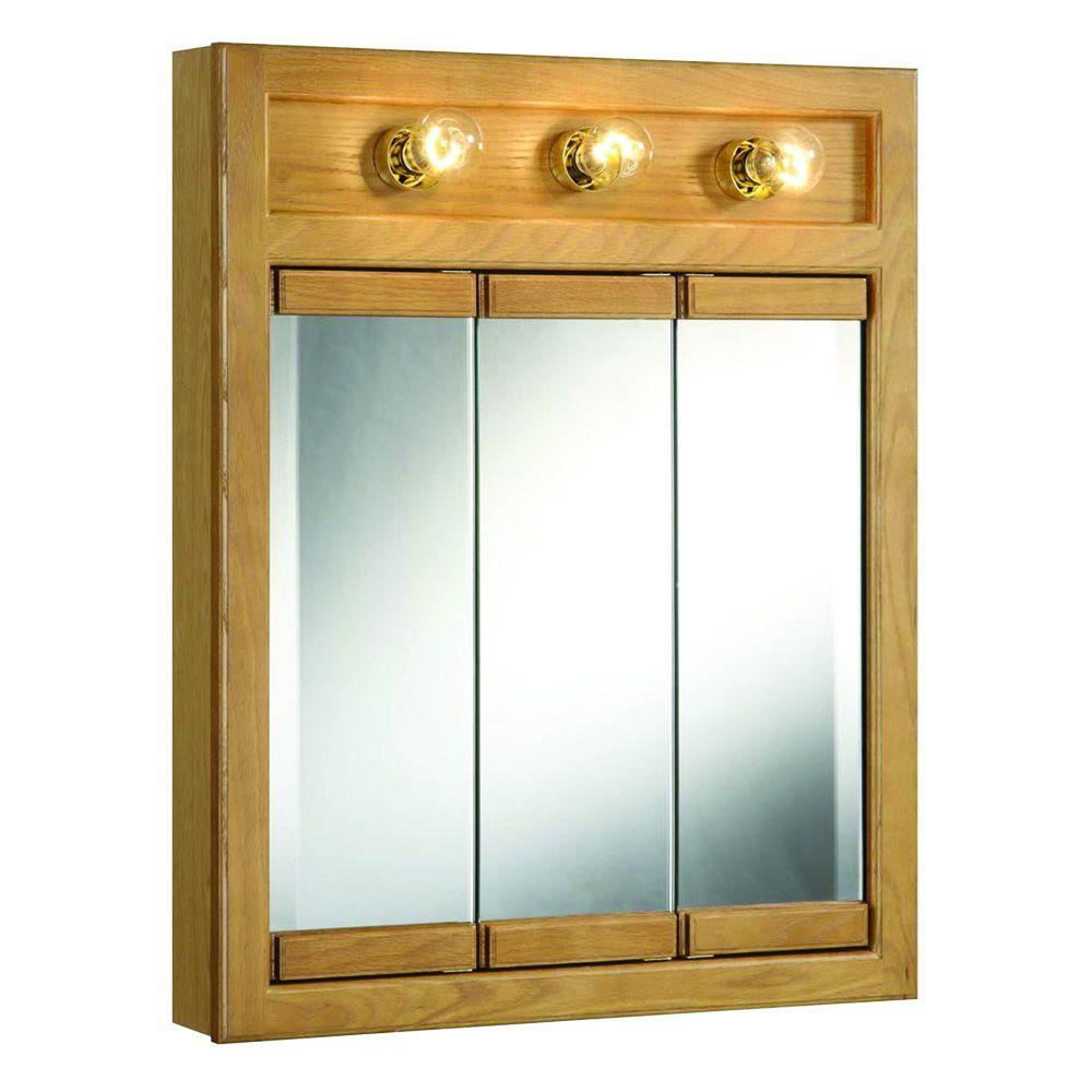 Design House Richland 24 In W X 30 In H X 5 In D Framed 3 Light