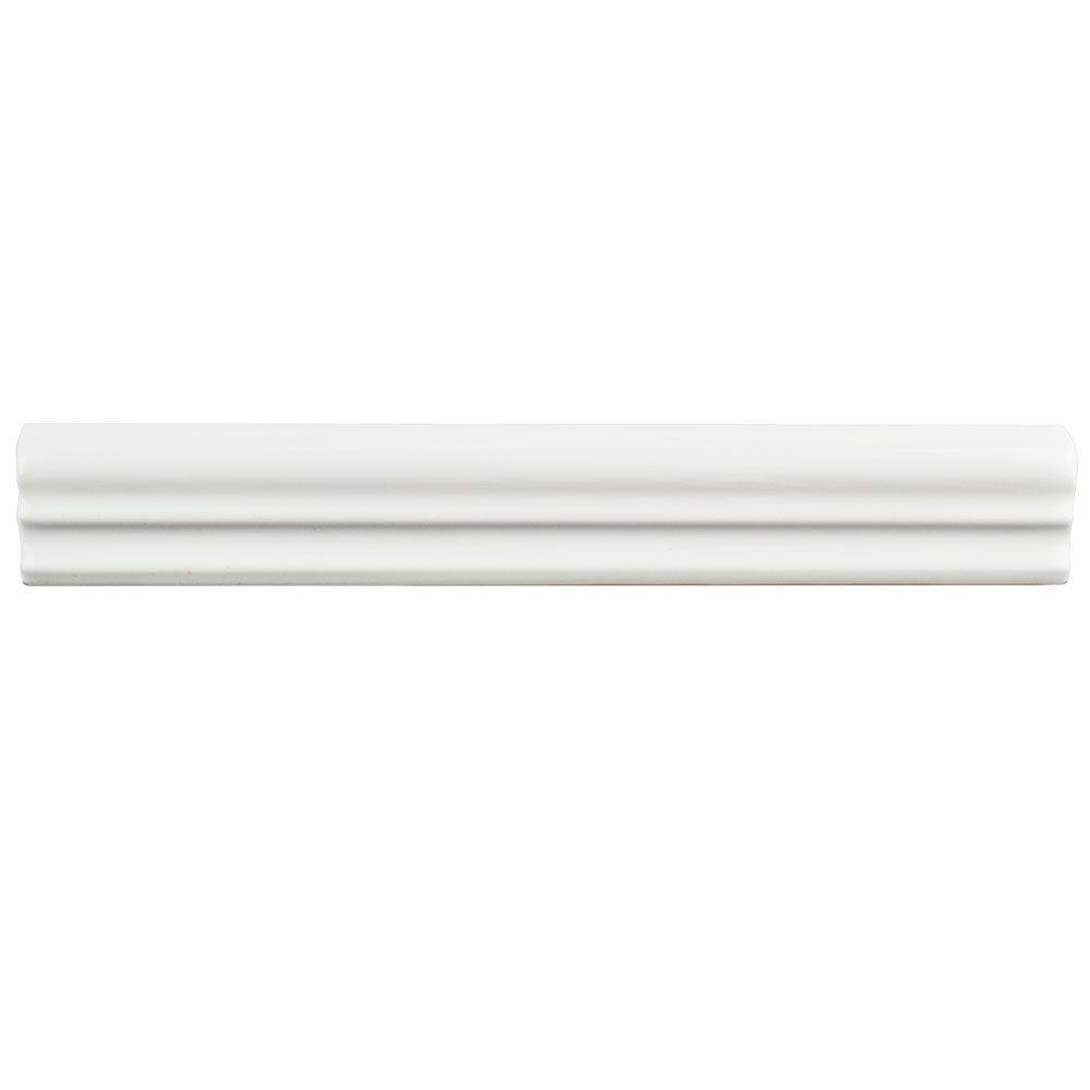 merola tile blanco brillo zen 1 1 4 in x 7 7 8 in ceramic moldura wall trim tile wcvrgbzm. Black Bedroom Furniture Sets. Home Design Ideas