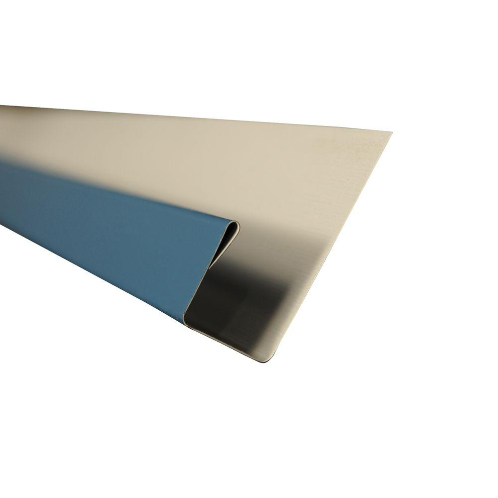 Metal Sales 2 in. x 10.5 ft. J-Channel Drip Edge Flashing in Ocean Blue