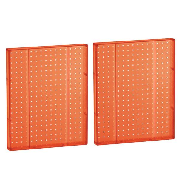 20.25 in H x 16 in W Pegboard Orange Styrene One Sided Panel (2-Pieces per Box)