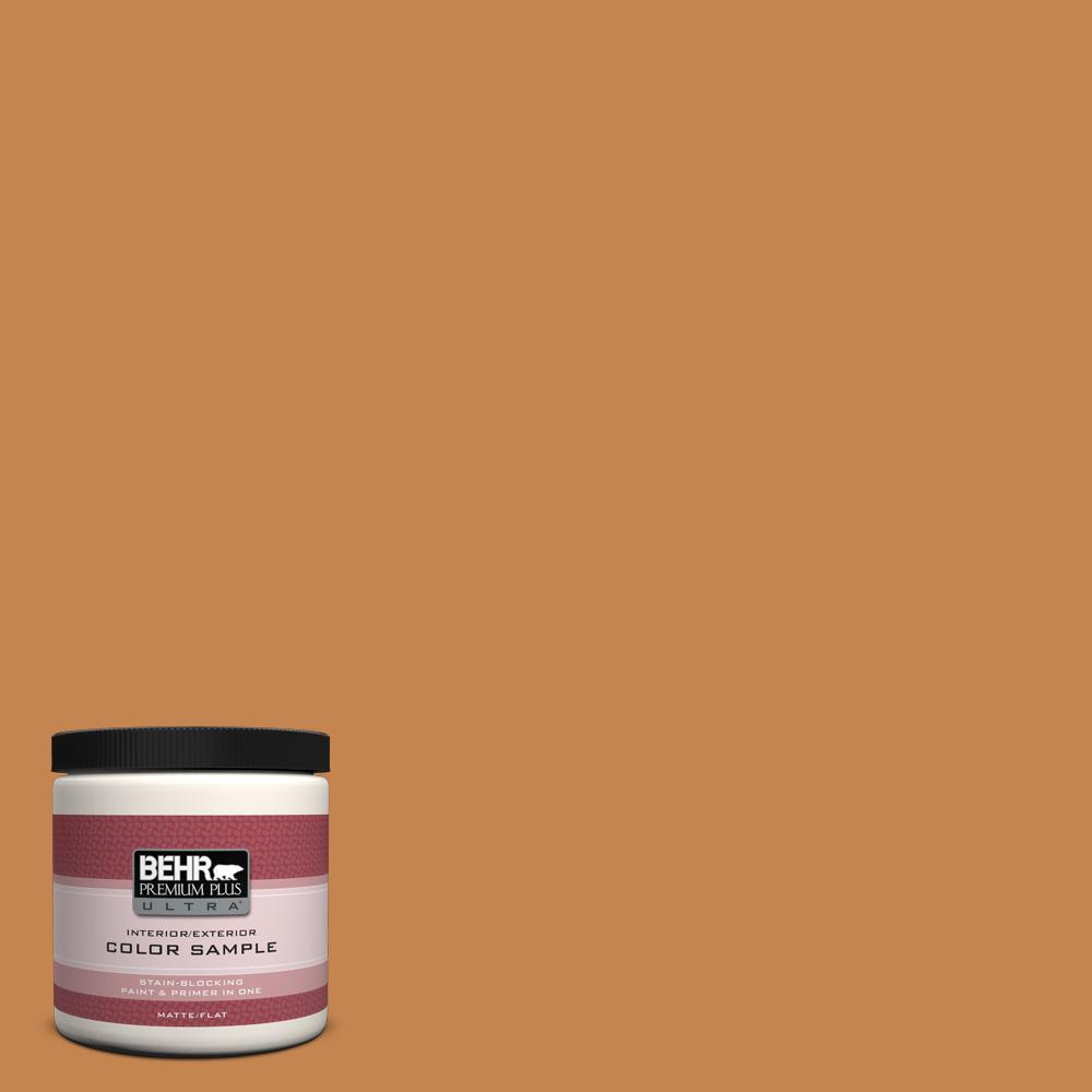 BEHR Premium Plus Ultra 8 oz. #PPU4-3 Butter Rum Interior/Exterior Paint Sample