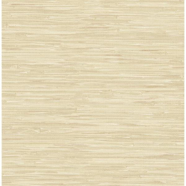 A-Street Natalie Taupe Faux Grasscloth Wallpaper 2657-22267