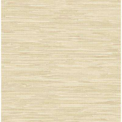 Natalie Taupe Faux Grasscloth Wallpaper Sample