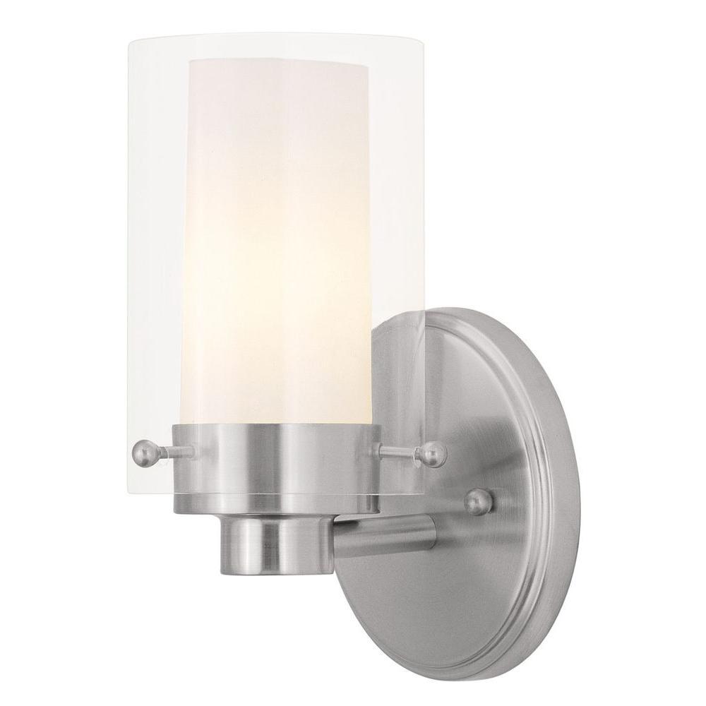 Livex Lighting Providence 1-Light Brushed Nickel Incandescent Bath Vanity