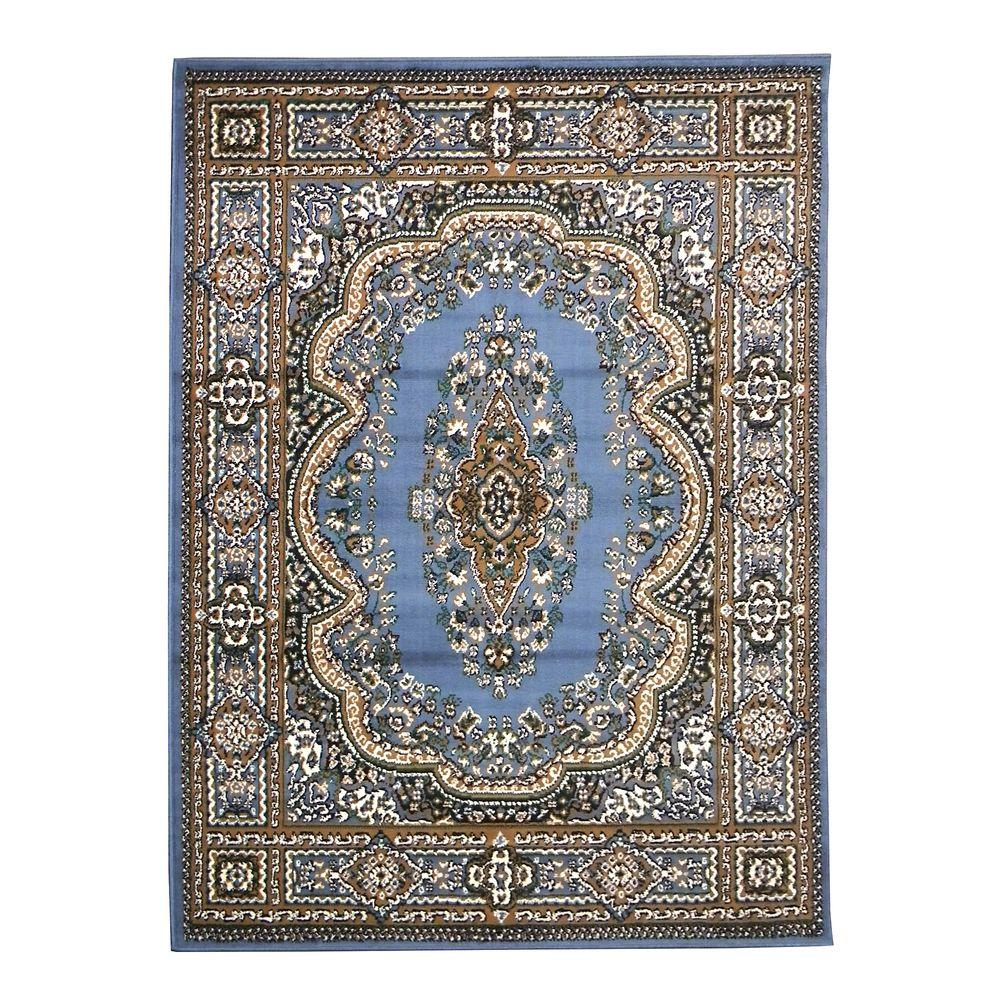 DonnieAnn TajMahal Oriental Design Blue 5 ft. 2 in. x 7 ft. Indoor Area Rug