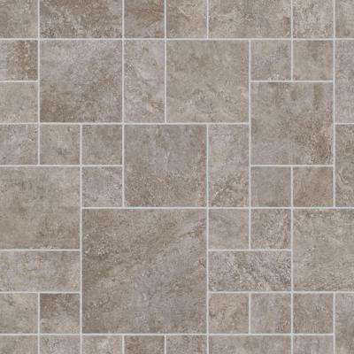 Sandblast Stone Grey 13.2 ft. Wide x Your Choice Length Residential Vinyl Sheet Flooring