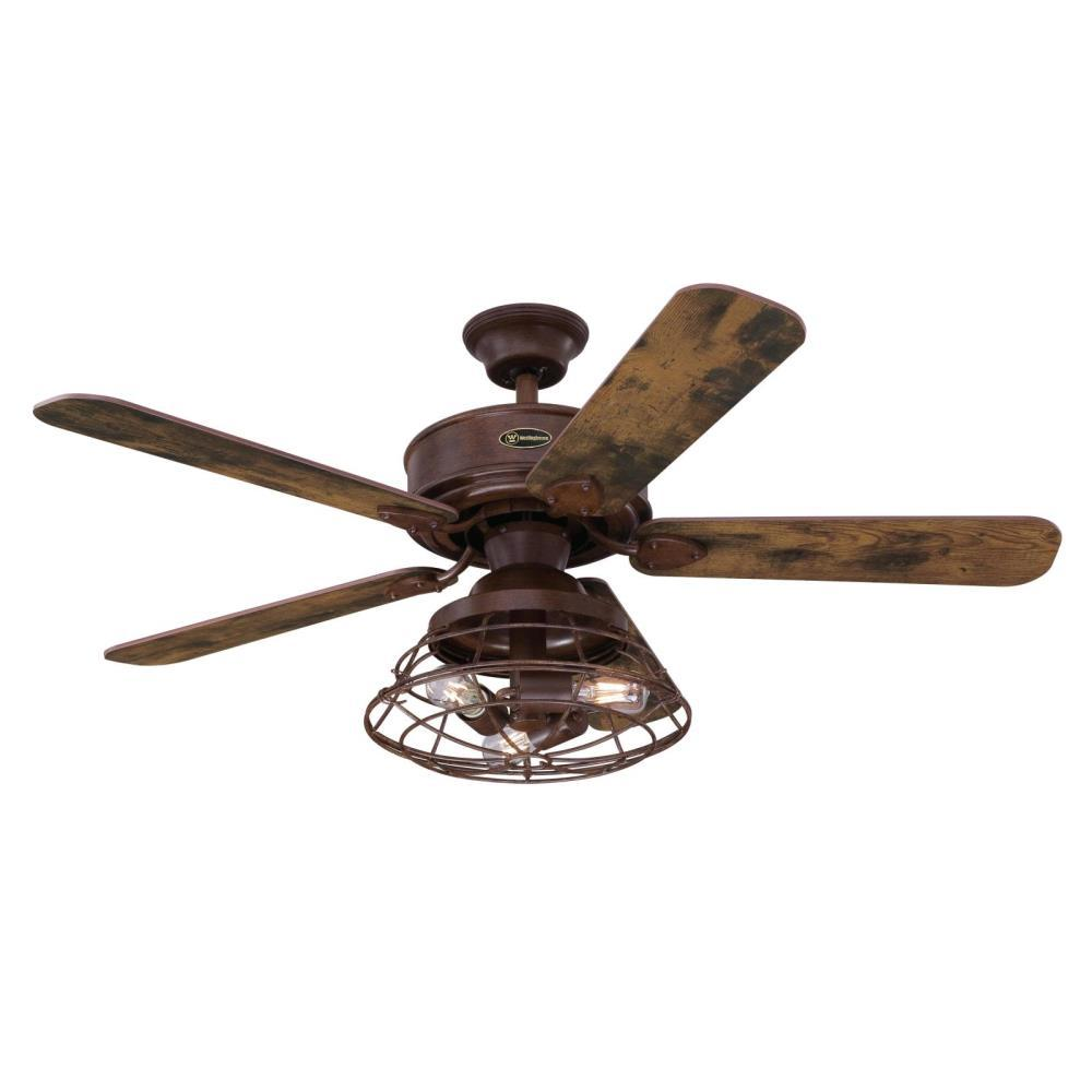 Led Barnwood Ceiling Fan With Light