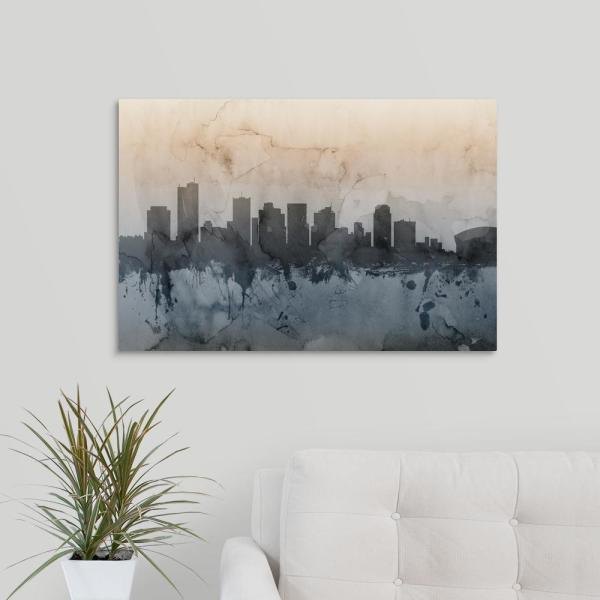 """Phoenix Arizona Skyline"" by Michael Tompsett Canvas Wall Art 2538516_24_30x20 - The Home Depot"