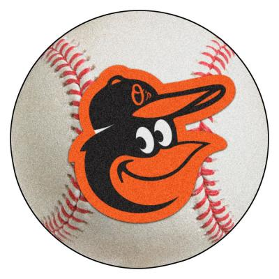 MLB Baltimore Orioles Photorealistic 27 in. Round Baseball Mat