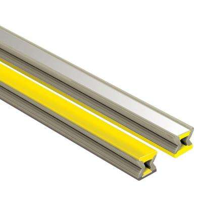 Dilex-EZ Yellow with Chrome Inlay 1/4 in. x 8 ft. 2-1/2 in. PVC Movement Joint Tile Edging Trim
