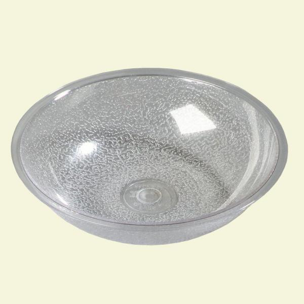 19.2 oz., 6.75 in. Diameter Polycarbonate Round Salad Bowl in Clear (Case of 12)