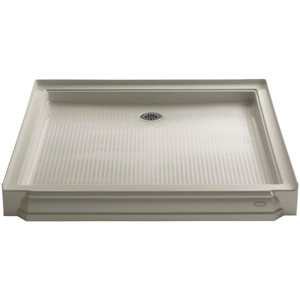 KOHLER Memoirs 48 in. x 48 in. Single Threshold Shower Base in Sandbar