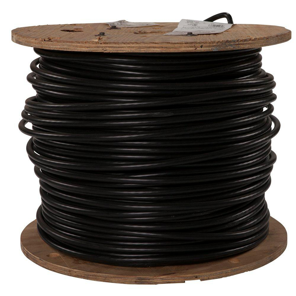 southwire 1000 ft 3 0 black stranded al xhhw wire 11276301 the