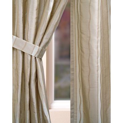 Home Decorators Collection Semi-Opaque Beige Rockafeller Rod Pocket Panel- in. W x 84 in. L