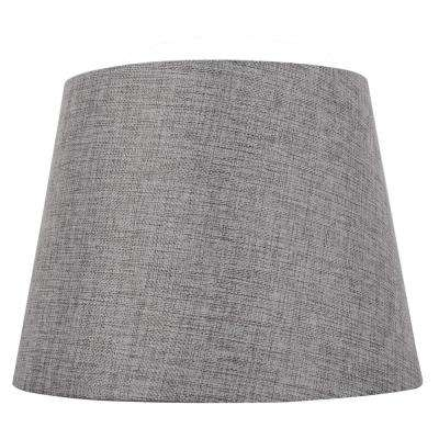 Mix and Match 12 in. Dia x 9 in. H Gray Round  Midsize Lamp Shade