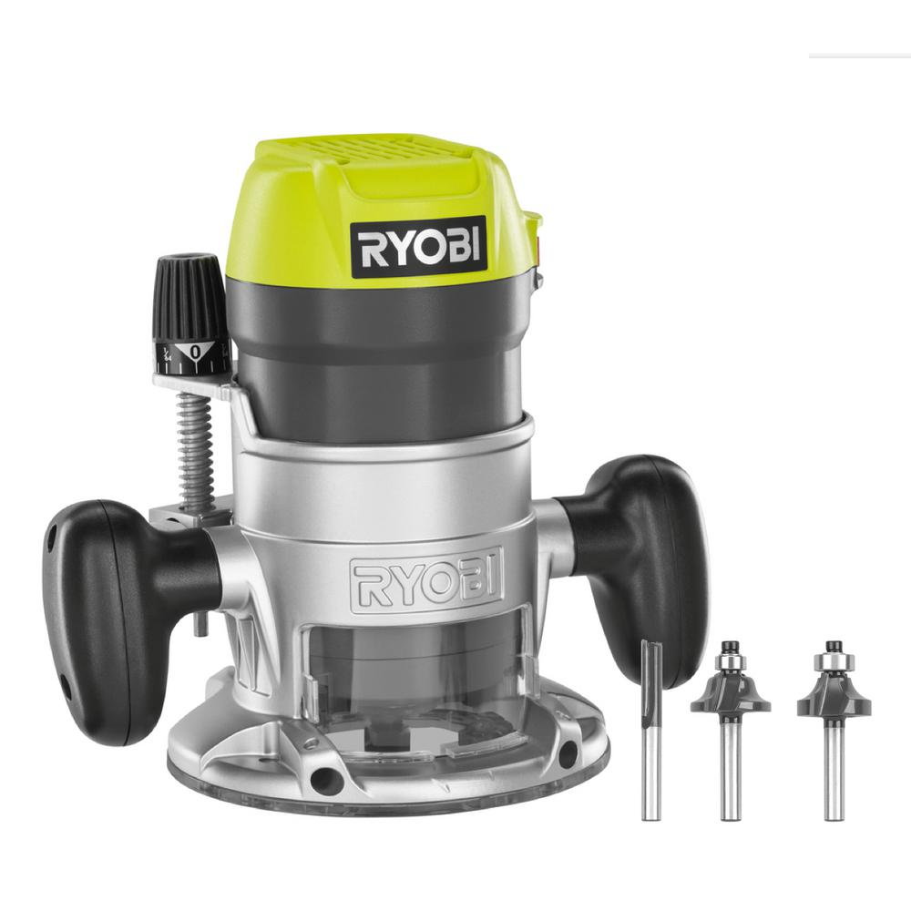 Ryobi 8 5 Amp 1 1 2 Peak Hp Fixed Base Router R1631k The Home Depot